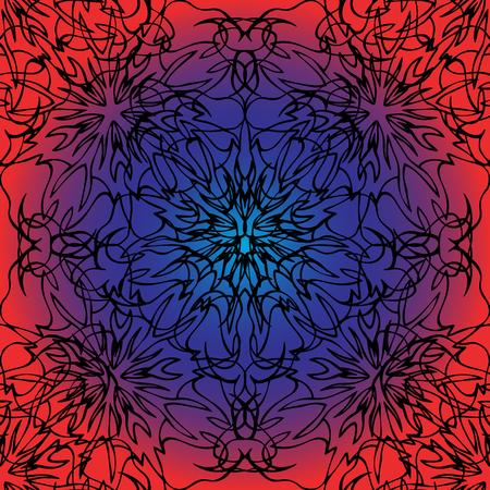 Elegant lace-like background. Nice and interesting hand-drawn illustration
