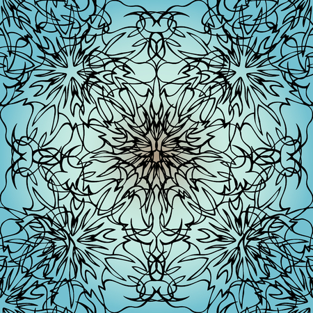 is interesting: Elegant lace-like background. Nice and interesting hand-drawn illustration