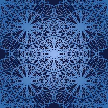 Elegant lace-like seamless pattern. Nice hand-drawn illustration Illustration