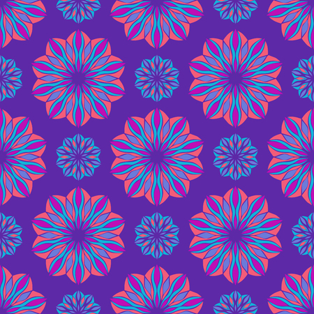 Elegant seamless pattern with floral and Mandala elements. Nice hand-drawn illustration Illustration
