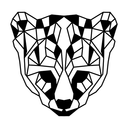 Low polygonal portrait of an ocelot. Nice vector graphic illustration.