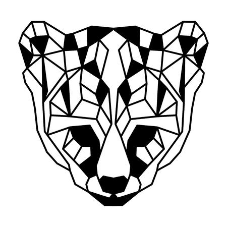Low polygonal portrait of an ocelot. Nice vector graphic illustration.