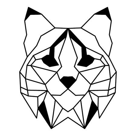 Low polygonal portrait of a bobcat. Nice vector graphic illustration EPS 8 Illustration