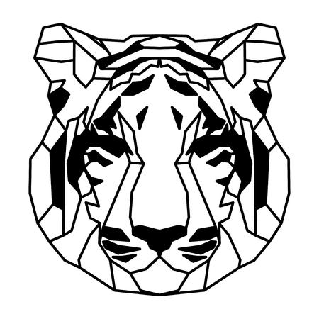 Low polygonal portrait of a tiger. Nice vector graphic illustration. Vektorové ilustrace
