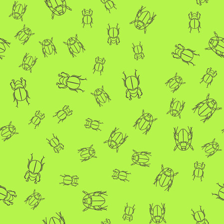 Seamless summer insects pattern background. Nice and beautiful vector graphic illustration