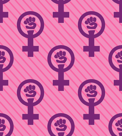 Seamless pink feminist pattern background. Venus mirror. Nice and beautiful vector grapgic illustration