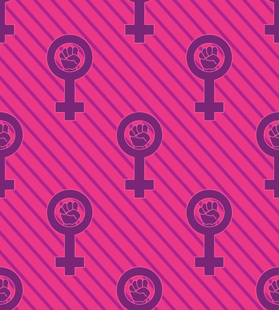 Seamless pink feminist pattern background. Venus mirror. Nice and beautiful vector grapgic illustration