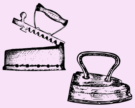 straighten: old iron, doodle style, hand drawn