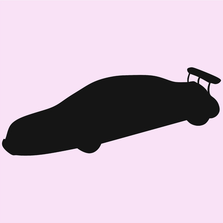 Sports car vector silhouette isolated 矢量图像