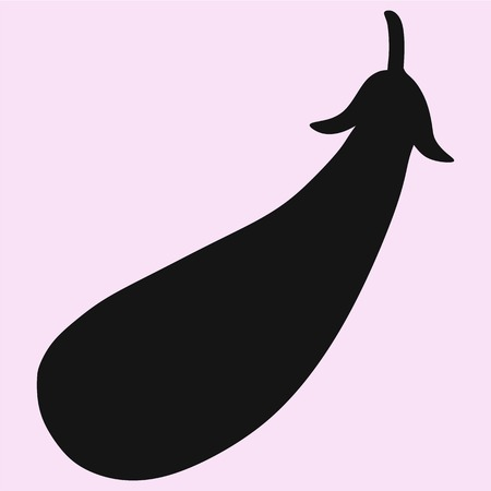 petiole: eggplant vector silhouette isolated
