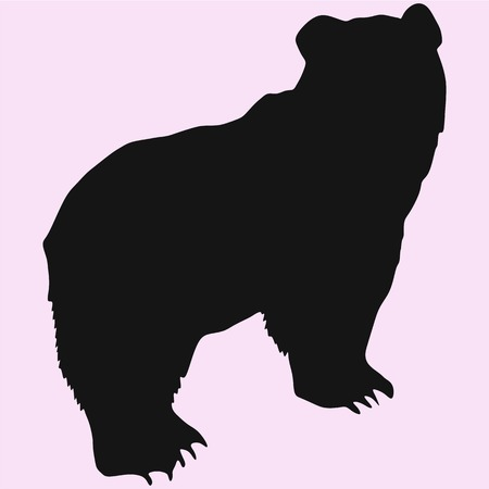 Big bear vector silhouette isolated