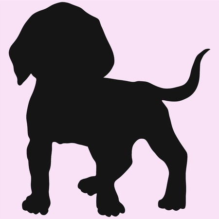 dog vector silhouette isolated