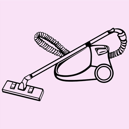 sweeper: Vacuum cleaner vector silhouette isolated