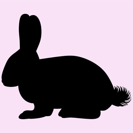 Hare rabbit vector silhouette isolated