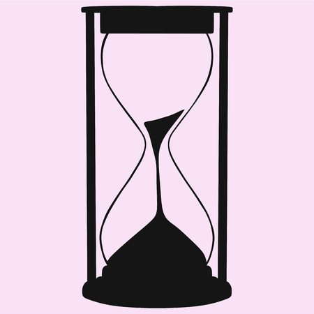Hourglass vector silhouette isolated on background