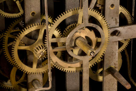 machinery: Gears of a clock Stock Photo