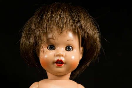 La cara de una muñeca Foto de archivo - 50185011