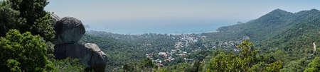 koh tao: Panoramic viewpoint of Koh Tao, Thailand Stock Photo