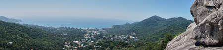 koh tao: Panoramic Viewpoint of Koh Tao, Thailand