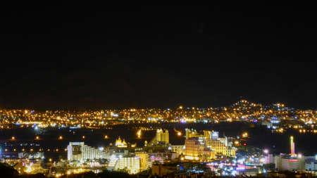View of Eilat and Jordan at night. Israel