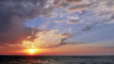 Beautiful sea veiw at sunset in Tel Aviv.