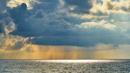 Sunrise and rain on Koh Samui. Thailand Stock Photo