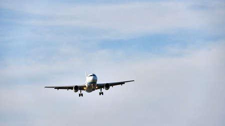 Plane at the sky background, Koh Samui. Stock Photo