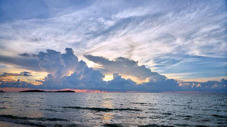 Beautiful sunset on Koh Samui in Thailand