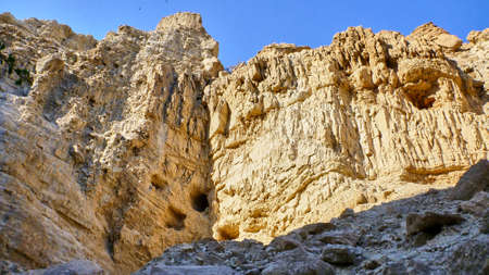 View of canyon in Judaean Desert. Israel Stock Photo