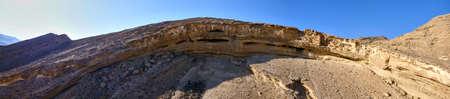 Panoramic view of canyon in Judaean Desert. Israel