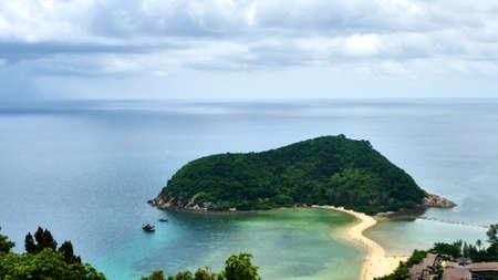 Small island near Koh Phangan in Thailand Stock Photo