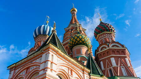 Cathedral of St. Vasily on Red Square Moscow Russia 写真素材 - 122171613