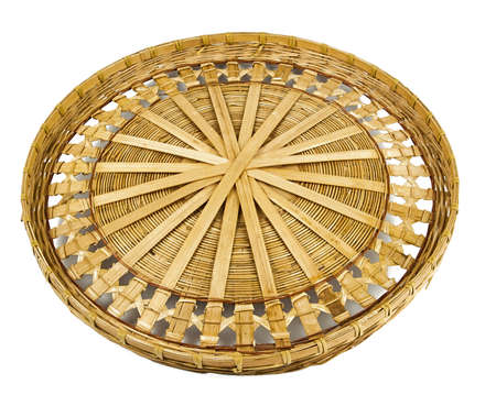 spliced: Wintage willow basket for fruits Stock Photo