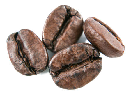 The  coffee beans on a white background Stock Photo - 12677733