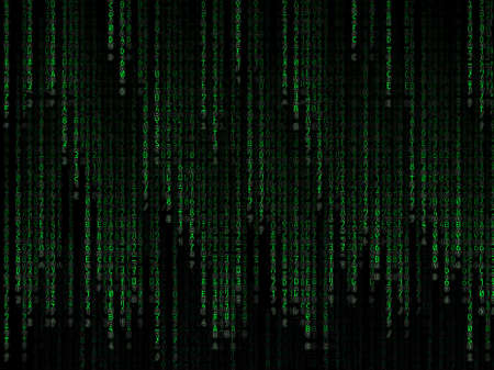 Green binary code on black background Stock Photo - 12677750