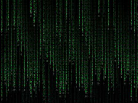 Green binary code on black background Stock Photo - 12677750