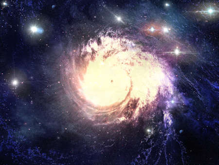 Abstract fantastic space storm Stock Photo