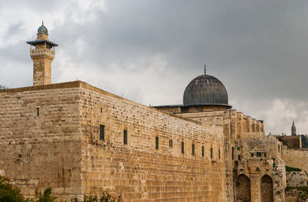 Al-Aqsa Mosque in the Old City of Jerusalem, Israel Stock Photo - 12978788
