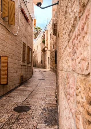 An alley in the old city in Jerusalem. Stock Photo - 12978862