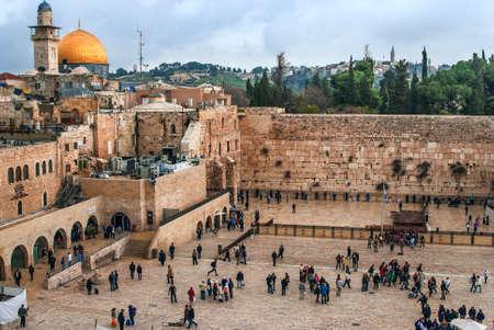 De Westelijke Muur, Temple Mount, Jeruzalem, Israël