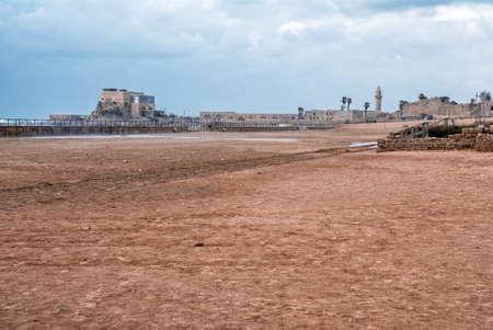 Roman Ruins in Caesarea, Ancient theatre king Herod the Great photo