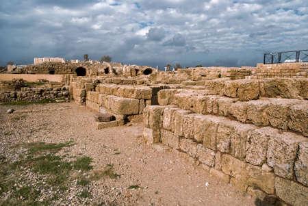 Ruins of roman period in caesarea, Israel Stock Photo - 13036501