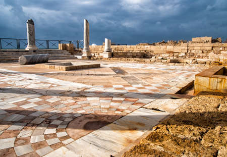 Caesarea park antique of ruins, Israel Stock Photo