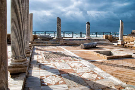 Caesarea park antique of ruins, Israel photo