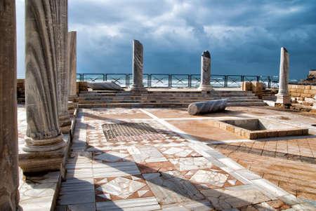 holyland: Caesarea park antique of ruins, Israel Stock Photo