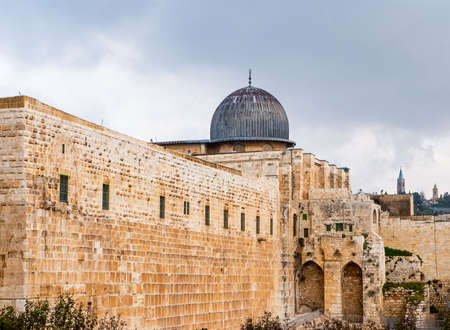 Al-Aqsa Mosque in the Old City of Jerusalem, Israel Stock Photo