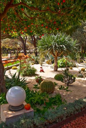 fragment van de beroemde Bahai tuinen in Haifa, Israël