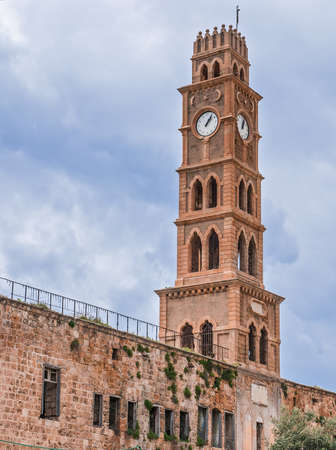 Ottoman landmark building - Han El-Umdan in Akko, Israel photo