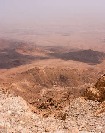 canyon negev: View over the Ramon Crater in Negev Desert in Israel.