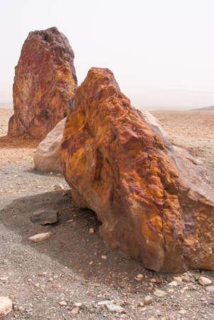 Stones in the Crater Mizpe Ramon - Negev desert, Israel Stock Photo - 13383583
